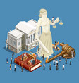 law isometric icon vector image