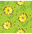 lemon raspberry pattern vector image vector image