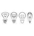 light bulb image hand drawn lightbulb set vector image