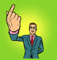 man index finger up vector image vector image