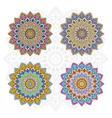 Mandala different color set vector image