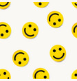 modern yellow laughing happy smile seamless vector image