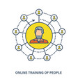 online training of people - knowledge courses vector image