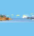 panorama - the arabian resort on the coast sand vector image vector image