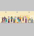 people waiting in store line long shop queue vector image vector image