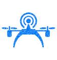 radio source drone grunge icon vector image vector image