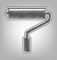 roller sign pencil sketch vector image vector image