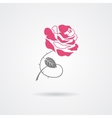 Rose symbol isolated on white background vector image