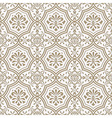 seamless paper cut floral pattern vector image vector image