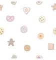 Seamless pattern of fancy cookies vector image vector image