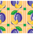 seamless pattern of ripe plum vector image vector image