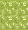 seamless pattern with summer plants flowers and vector image vector image