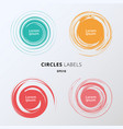 set colors circles brush on white background vector image