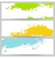 Set of banners with paint splash vector image vector image