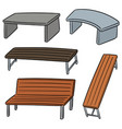 set of bench vector image vector image