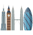 set of world famous building vector image