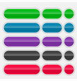 shiny colorful web buttons set vector image vector image