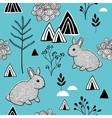 Simple pattern in scandinavian style vector image vector image