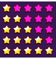 Space game rating stars icons buttons vector image vector image