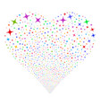 space star fireworks heart vector image vector image