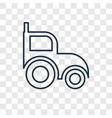 tractor concept linear icon isolated on vector image