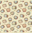 tv pattern vector image vector image