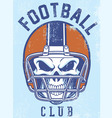 vintage football club design vector image vector image