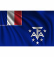 waving french southern and antarctic lands vector image vector image
