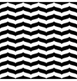 Wavy zig zag seamless pattern white and black 3d vector image