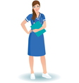 Women nurse or doctor in full length vector image vector image