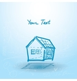 House house plan on a blue background Building vector image