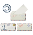 Set of envelopes from Paris with a painted the vector image