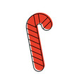 christmas candy cane mint sweet vector image