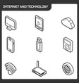 internet and technology vector image