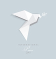 3d origami low polygon dove vector image vector image