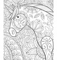 adult coloring bookpage a cute unicorn