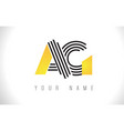 ag black lines letter logo creative line letters vector image vector image