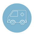 ambulance car isolated icon vector image