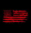 american flag in grunge style design element vector image vector image