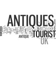 antiques concepts online and off text word cloud vector image vector image
