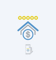 bank rating icon vector image vector image