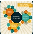 Banking services infographic vector image vector image