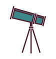 big powerful telescope on tripod isolated cartoon vector image