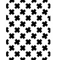 black and white seamless pattern of crosses vector image