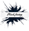 black friday big sale black ink splach vector image vector image
