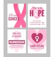 Breast Cancer Awareness Posters Set vector image vector image