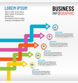 business infographics for presentation template vector image vector image