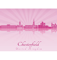 Chesterfield skyline in purple radiant orchid vector image vector image