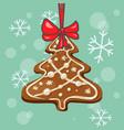 christmas gingerbread tree vector image