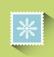 christmas post stamp vector image